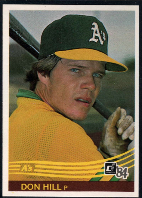 1984 Donruss #96 Donnie Hill/ VG RC Rookie Oakland Athletics