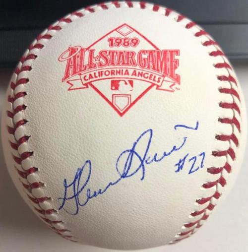 Glenn Davis Autographed 1989 All-Star Game Baseball TOUGH SIGNATURE