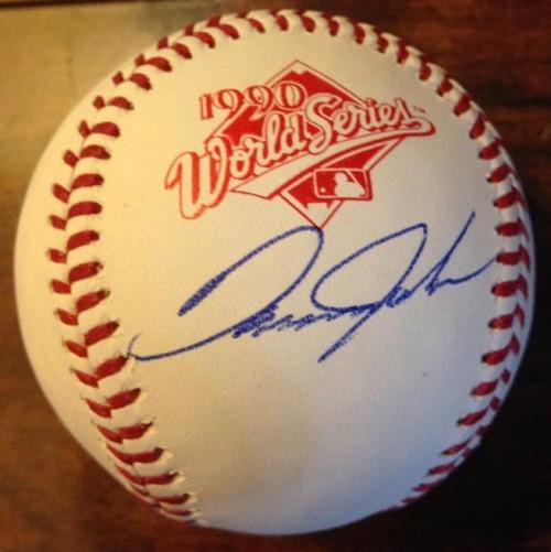 Danny Jackson Autographed Rawlings Official 1990 World Series Baseball