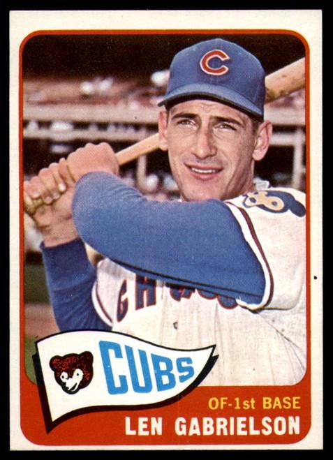 1965 Topps #14 Len Gabrielson VG  Chicago Cubs