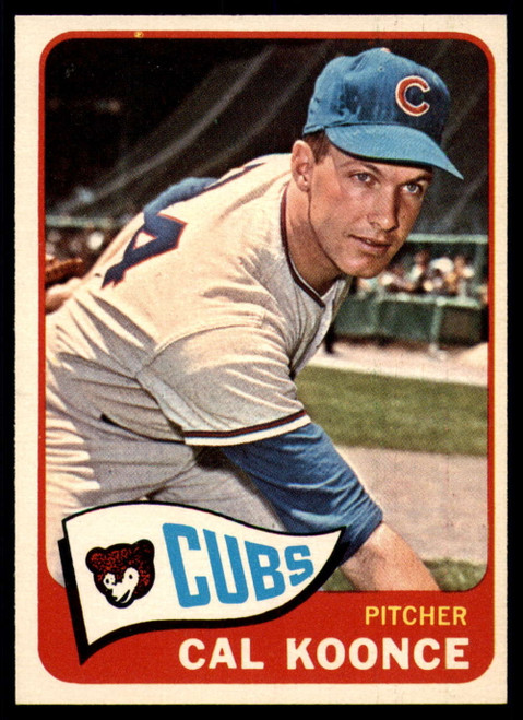 1965 Topps #34 Cal Koonce VG  Chicago Cubs
