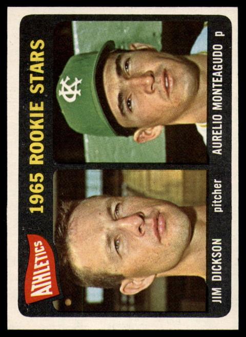 1965 Topps #286 Jim Dickson/Aurelio Monteagudo Athletics Rookies VG  RC Rookie Kansas City Athletics