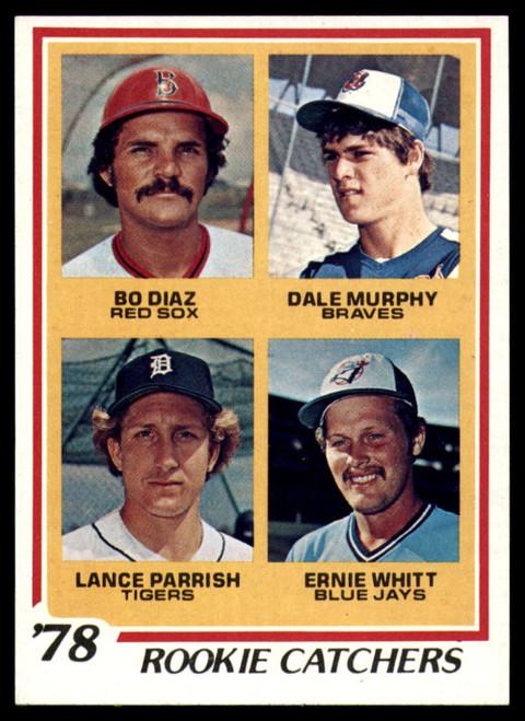 1978 Topps #708 Bo Diaz/Dale Murphy/Lance Parrish/Ernie Whitt Rookie Catchers GOOD RC Rookie Boston Red Sox/Atlanta Brav