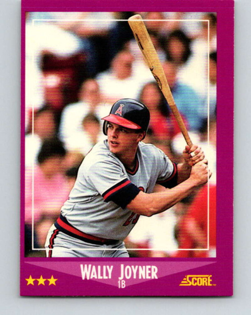 1988 Score #7 Wally Joyner VG California Angels