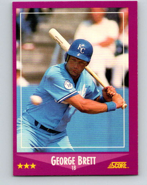 1988 Score #11 George Brett VG Kansas City Royals