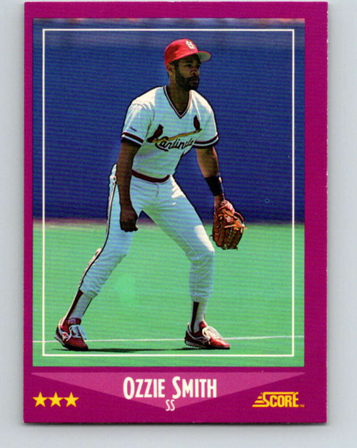 1988 Score #12 Ozzie Smith VG St. Louis Cardinals