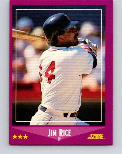 1988 Score #14 Jim Rice VG Boston Red Sox