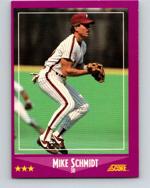 1988 Score #16 Mike Schmidt VG Philadelphia Phillies