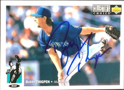 Bobby Thigpen Autographed 1994 Collectors Choice #516