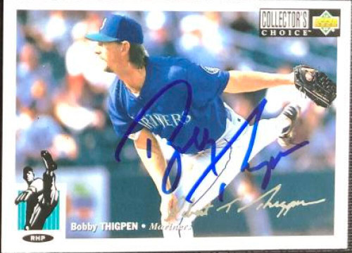 Bobby Thigpen Autographed 1994 Collectors Choice Silver Signature #516