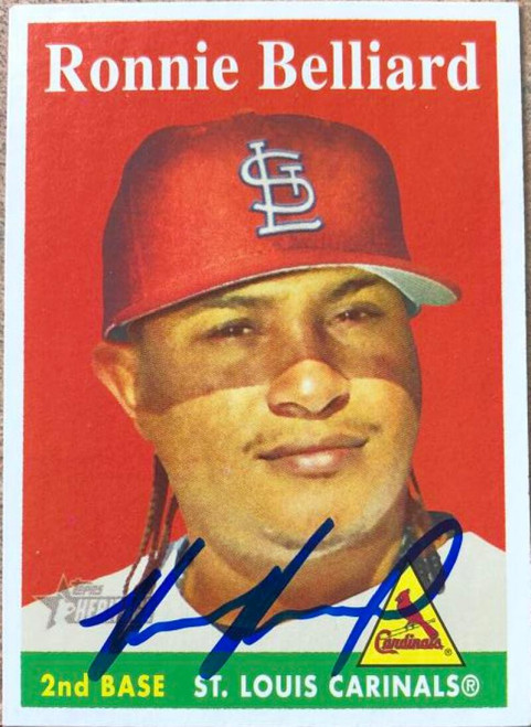 Ronnie Belliard Autographed 2007 Topps Heritage #199