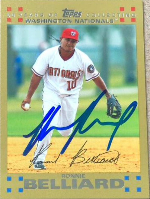 Ronnie Belliard Autographed 2007 Topps - Gold #551 LE 2007
