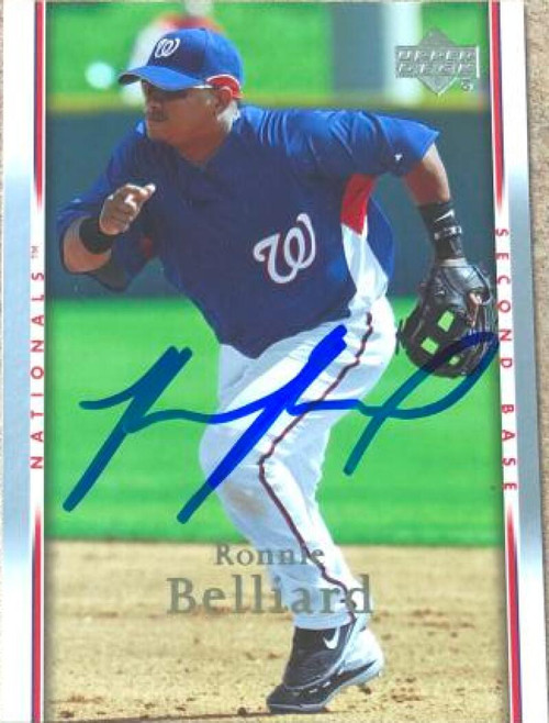 Ronnie Belliard Autographed 2007 Upper Deck #1019