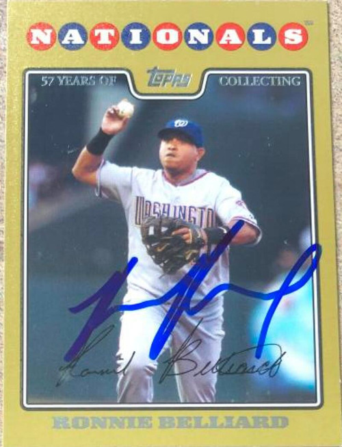 Ronnie Belliard Autographed 2008 Topps - Gold #562 LE 2008