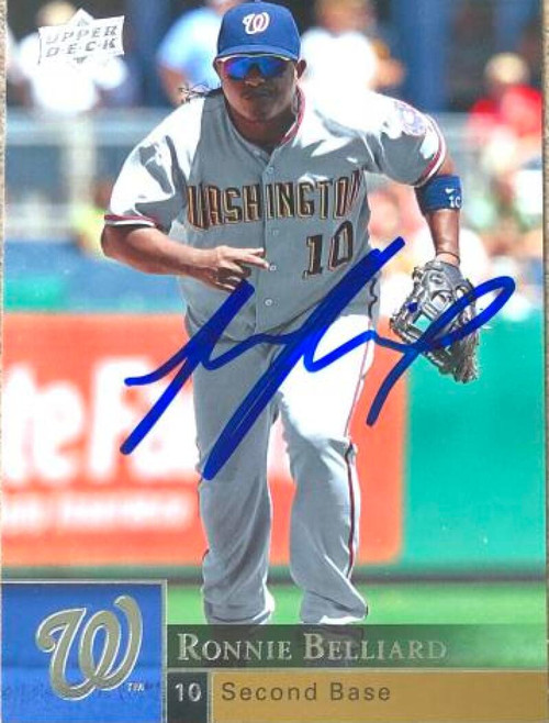 Ronnie Belliard Autographed 2009 Upper Deck #398