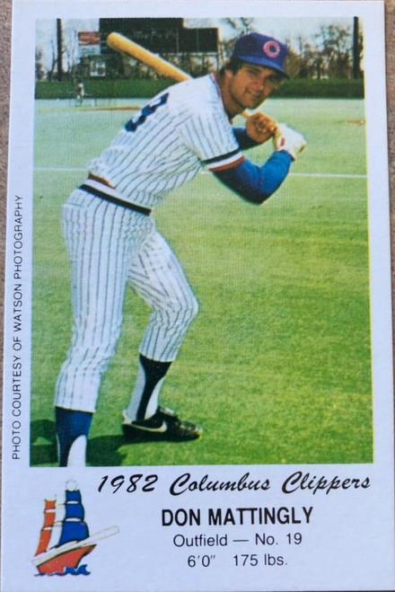 Don Mattingly 1982 Columbus Clippers Police #NNO ID: 105956