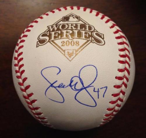 SOLD 3432 Scott Eyre Autographed 2008 World Series Baseball