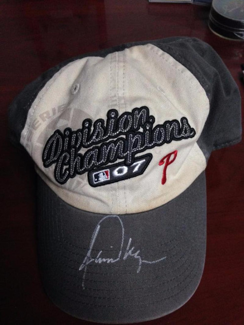Jamie Moyer Autographed 2007 NL East Division Champs Hat From His Collection