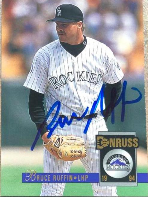 Bruce Ruffin Autographed 1994 Donruss #305