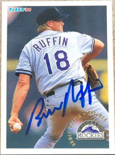 Bruce Ruffin Autographed 1994 Fleer #452