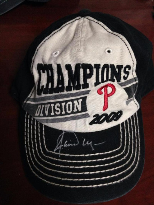 Jamie Moyer Autographed 2009 NL East Division Champs Hat From His Collection