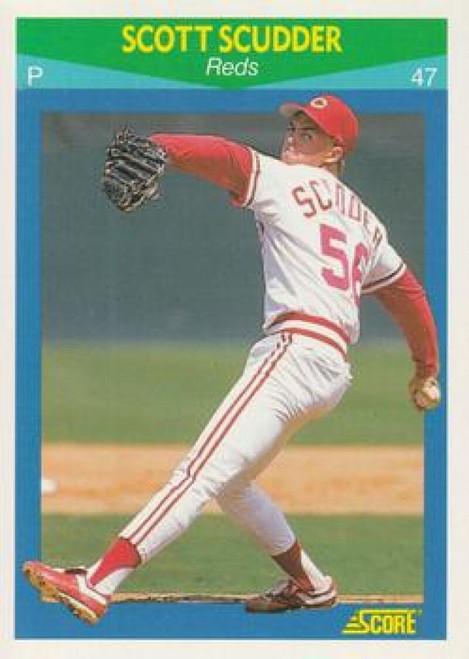 1990 Score Rising Stars #65 Scott Scudder VG Cincinnati Reds