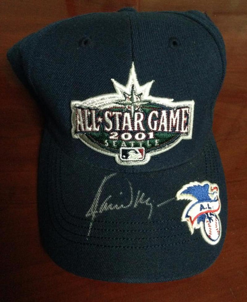 SOLD 3485 Jamie Moyer Autographed 2001 All Star Game Seattle Mariners Cap Owned by Him