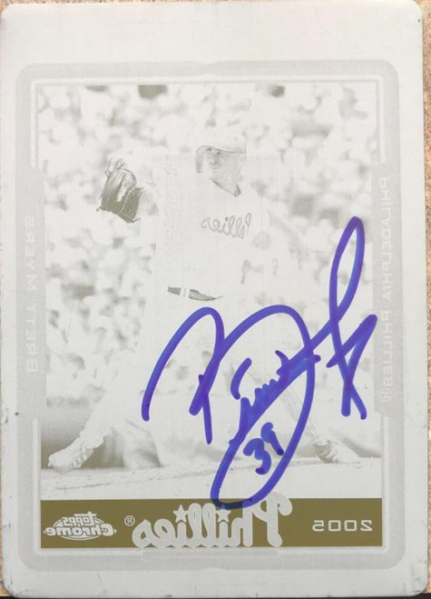 Brett Myers Autographed 2005 Topps Chrome Black Printing Plate #69 1 of 1