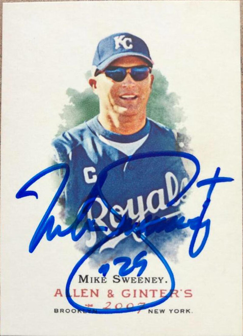 Mike Sweeney Autographed 2007 Topps Allen & Ginter #81