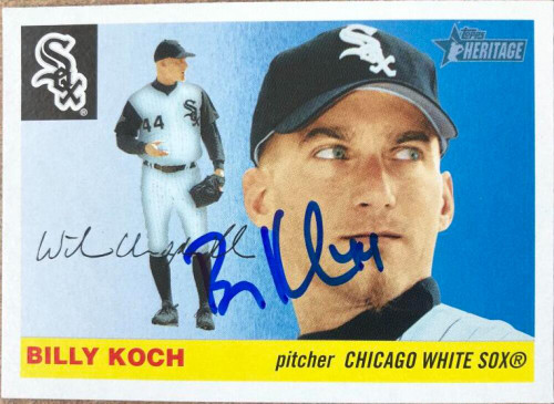 Billy Koch Autographed 2004 Topps Heritage #137