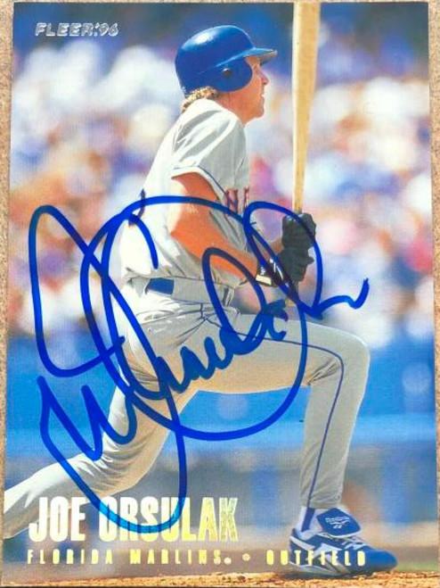 Joe Orsulak Autographed 1996 Fleer Tiffany #391
