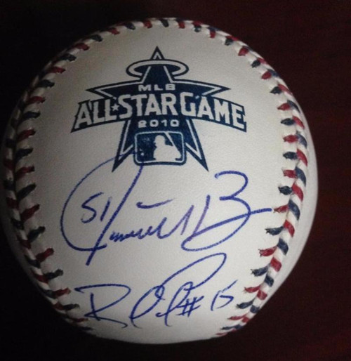 Jonathan Broxton, Andre Either, Rafael Furcal & Hong-Chih Kuo Autographed 2010 All-Star Ball
