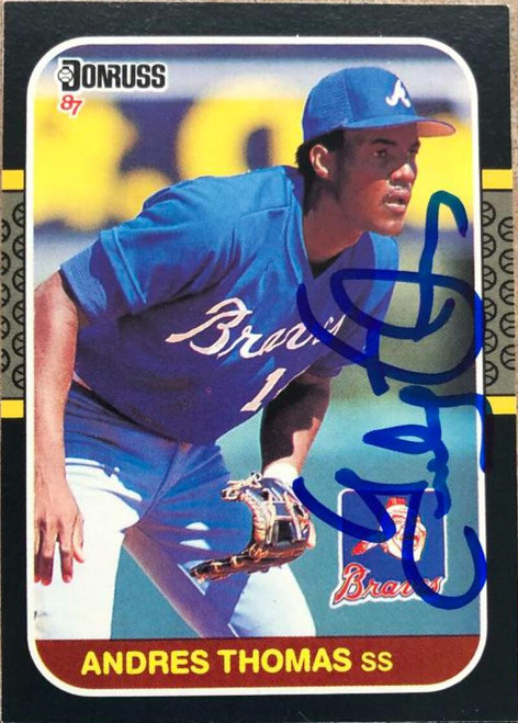 Andres Thomas Autographed 1987 Donruss #266