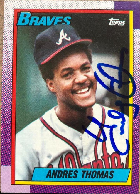 Andres Thomas Autographed 1990 Topps #358