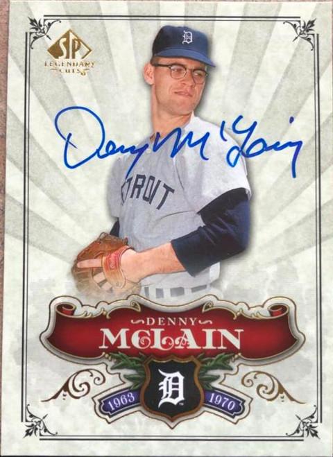Denny McLain Autographed 2006 SP Legendary Cuts #90