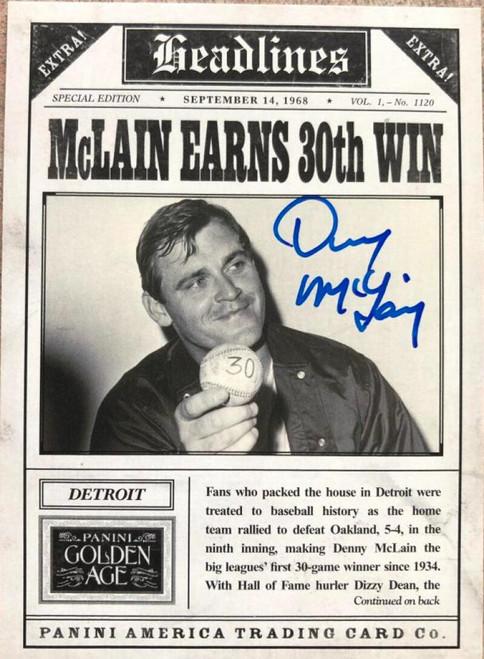 Denny McLain Autographed 2013 Panini Golden Age - Headlines  #13