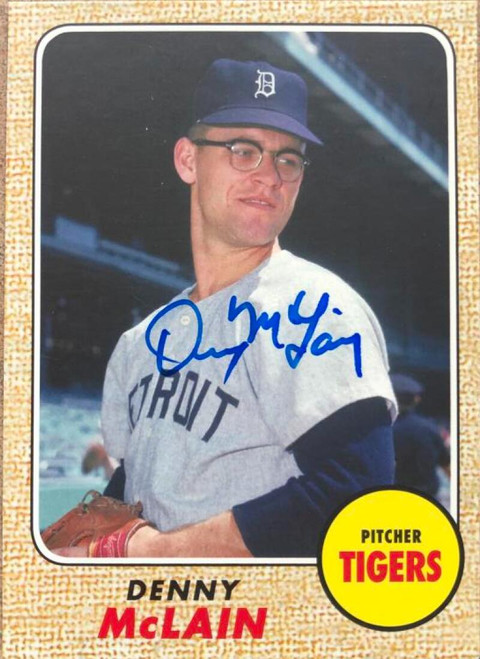 Denny McLain Autographed 2013 Topps Archives #203