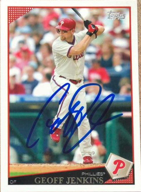 Geoff Jenkins Autographed 2009 Topps #44