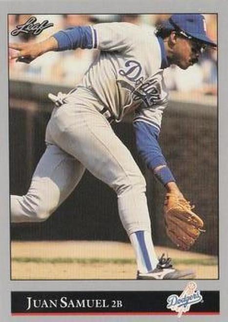 1992 Leaf #125 Juan Samuel VG Los Angeles Dodgers