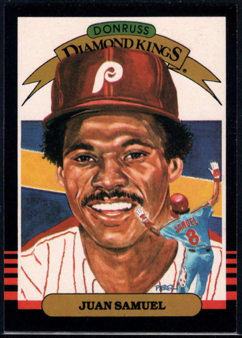 1985 Donruss #23 Juan Samuel DK VG Philadelphia Phillies