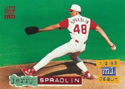 1994 Stadium Club #56 Jerry Spradlin VG Cincinnati Reds