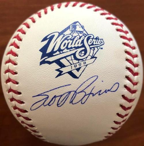Scott Brosius Autographed 1999 World Series Baseball TOUGH SIGNATURE