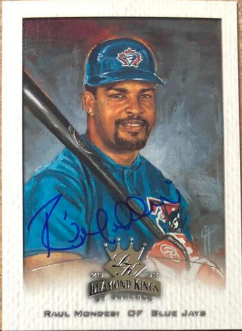 Raul Mondesi Autographed 2002 Donruss Diamond Kings #43