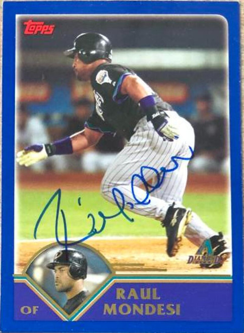 Raul Mondesi Autographed 2003 Topps Traded and Rookies #T109