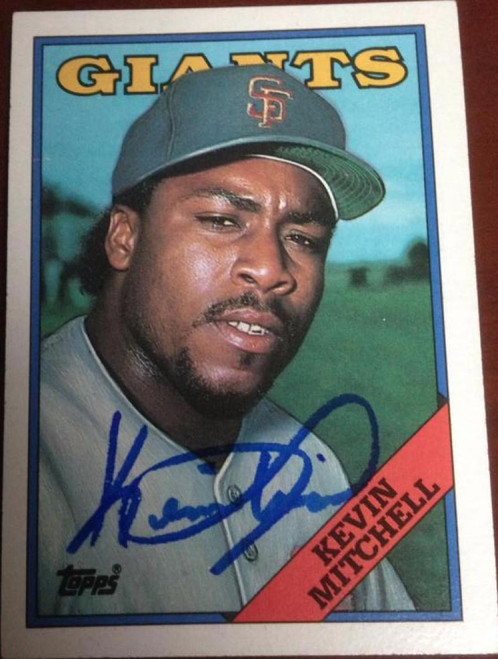 Kevin Mitchell Autographed 1988 Topps #497