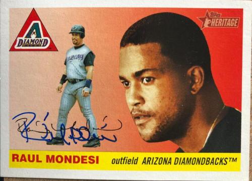 Raul Mondesi Autographed 2004 Topps Heritage #271