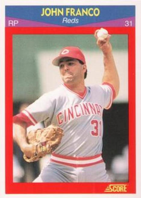 1990 Score 100 Superstars #49 John Franco VG Cincinnati Reds