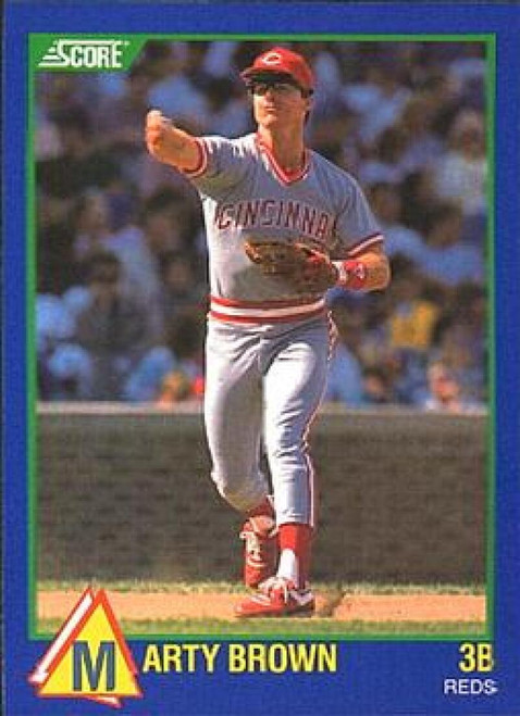 1989 Score Hottest 100 Rising Stars #70 Marty Brown NM-MT Cincinnati Reds