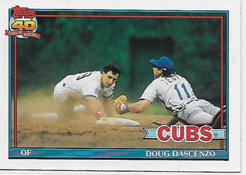 1991 Topps #437 Doug Dascenzo VG Chicago Cubs
