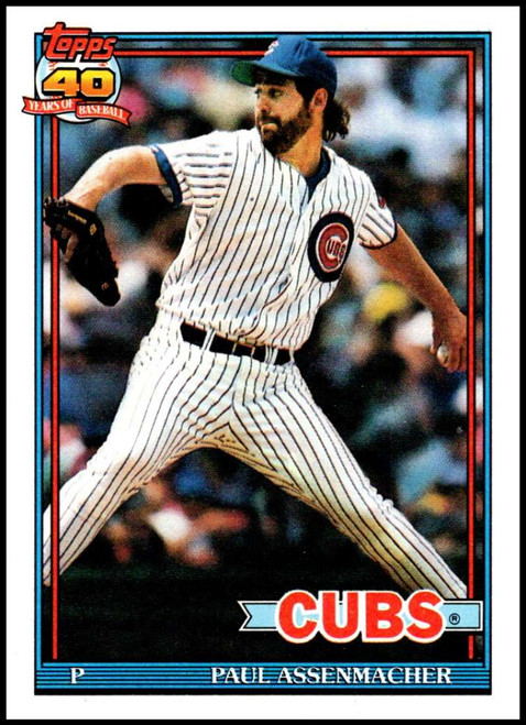 1991 Topps #12 Paul Assenmacher VG Chicago Cubs